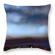Early Morning At The Golden Gate Throw Pillow