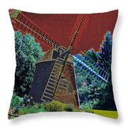 Early Morning At The Mill Throw Pillow
