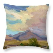 Early Morning At Thousand Palms Throw Pillow