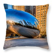 Early Morning Bean In Chicago Throw Pillow