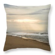 Early Morning By The Shore  Throw Pillow