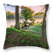 Early Morning Cannons Throw Pillow