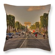 Early Morning Champes Elysees  Throw Pillow