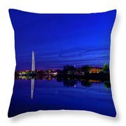 Early Morning Cherry Blossoms Throw Pillow