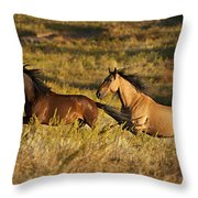 Early Morning Exercise Throw Pillow