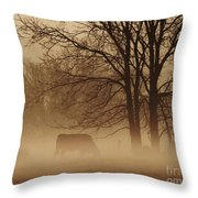Early Morning Fog 002 Throw Pillow