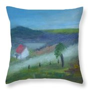 Early Morning In Donegal Throw Pillow