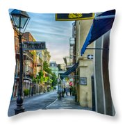Early Morning In French Quarter Nola Throw Pillow