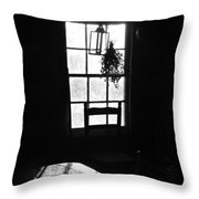 Early Morning In Historic Cabin Throw Pillow