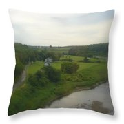 Early Morning In The Countryside Of Quebec Throw Pillow