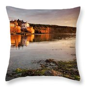 Early Morning Light On Robin Hoods Bay Throw Pillow