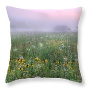 Early Morning Meadow Throw Pillow
