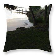 Early Morning Meal Throw Pillow