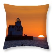 Early Morning Meeting Throw Pillow