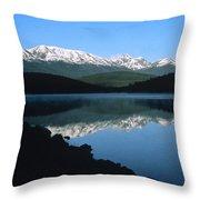 Early Morning Mountain Reflection Throw Pillow