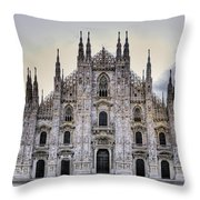 Early Morning On Il Duomo Throw Pillow