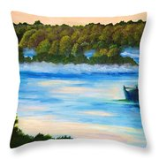 Early Morning On Lake Peipsi  Throw Pillow