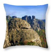 Early Morning On Neurathen Castle Throw Pillow