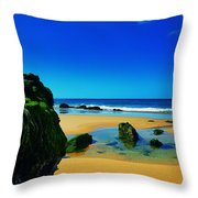 Early Morning On The Beach II Throw Pillow