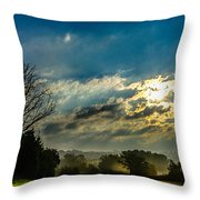 Early Morning On The Road Again Throw Pillow