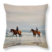 Early Morning Paddle Throw Pillow