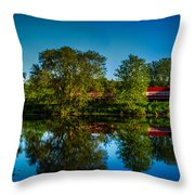 Early Morning Rest Stop Throw Pillow by Randy Scherkenbach