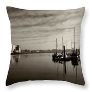 Early Morning River Suir, Waterford Throw Pillow