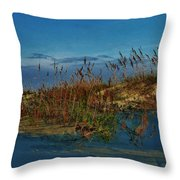Early Morning Seascape Throw Pillow