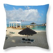 Early Morning Shade On A Tropical Beach   Throw Pillow