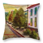 Early Morning Side Street  Throw Pillow