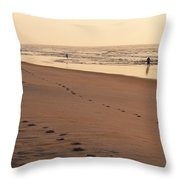 Early Morning Stroll At Litchfield Throw Pillow