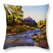 Early Morning Sunrise Zion N.p. Throw Pillow