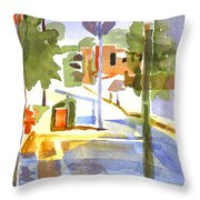 Early Morning Sunshine Throw Pillow
