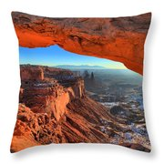 Early Morning Surprise Throw Pillow