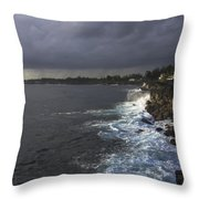 Early Morning Waves Throw Pillow