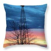 Early Prairie Light Throw Pillow