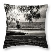 Early Seaside Visit 3 Throw Pillow