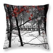Early Snow 4 Throw Pillow