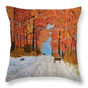 Early Snow Throw Pillow