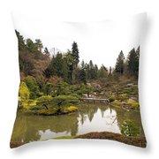 Early Spring In The Garden Throw Pillow