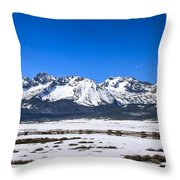 Early Spring In The Sawtooth Throw Pillow