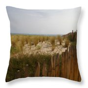 Early Summer Dunes Throw Pillow