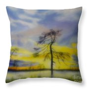 Early Summer Morning Throw Pillow