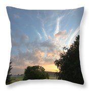 Early Summer Sunrise Throw Pillow