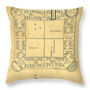 Early Version Of Monopoly Board Game Patent Throw Pillow