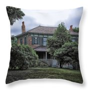 Early Victorian Italianate House Throw Pillow