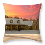 Early Winter Morning Throw Pillow