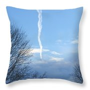 Early Winter Morning. Smoking Clouds Throw Pillow