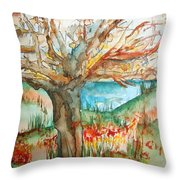 Early Winter Tree Throw Pillow