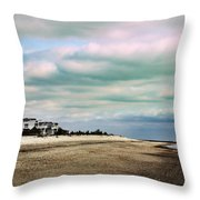 Early Morning Townsends Inlet  Cape May Throw Pillow